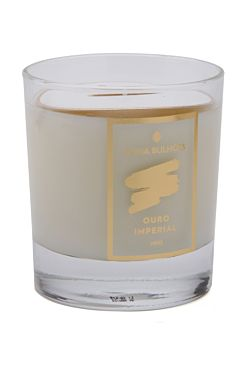 Vela Cristal Ouro Imperial